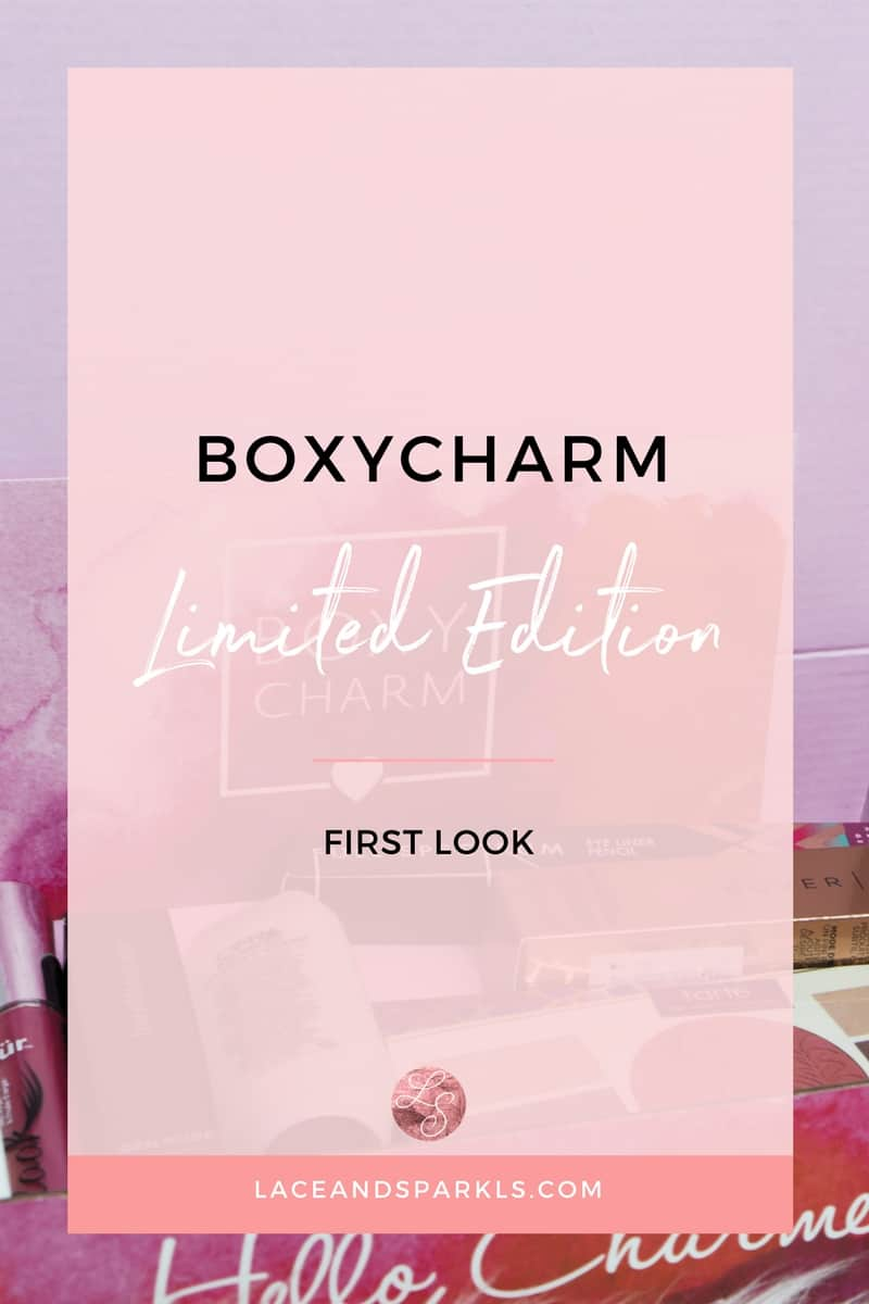 BoxyCharm Limited Edition Review - Lace and Sparkles