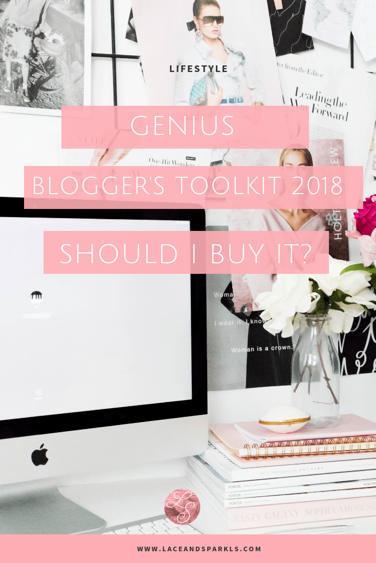 Genius Blogger's Toolkit 2018 - Lace and SparklesGenius Blogger's Toolkit 2018 - Lace and Sparkles